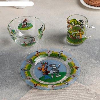 Набор посуды простоквашино, 3 предмета: кружка 200 мл, салатник 300 мл, та