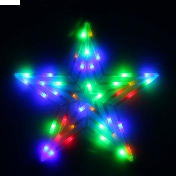Фигура звезда d-60 см, , 30 led, 220v, контрол. 8р. мульти
