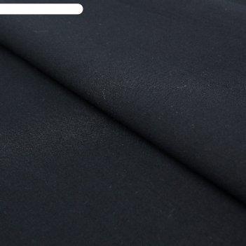 Ткань плательная, батист гладкокрашеный, ширина 150 см, цвет чёрный