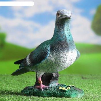 Садовая фигура голубь почтовый 15х23см