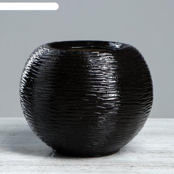 Ваза шарик большой, черный