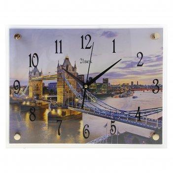 Часы настенные, серия: город, тауэрский мост, 30х40  см, микс