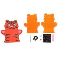 Набор для творчества - кукольный театр из фетра тигра