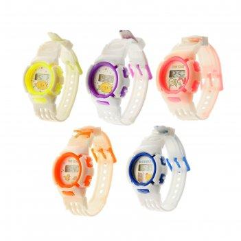 Часы наручные детские птенчик, электронные, с силиконовым ремешком, микс