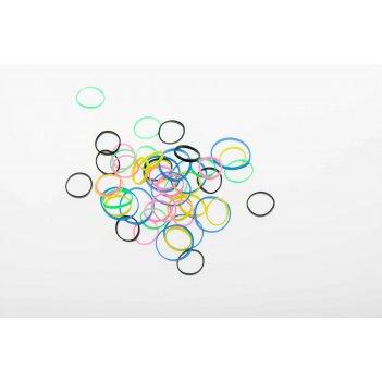 Резинки для волос dewal beauty цветные силикон, mix mini (50шт)