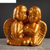 Статуэтка ангелочки золотые, глянец