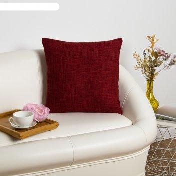 Наволочка декоративная этель классика, цв.красный, 43*43 см, 100% п/э