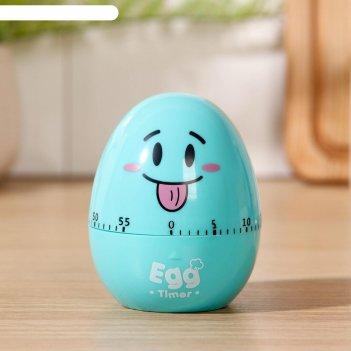Кухонный таймер (мех) «весёлое яйцо», 6,5x8 см, цвет микс