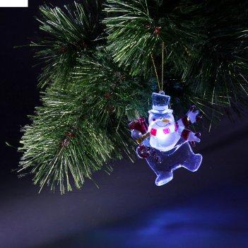 Игрушка световая снеговик, 10 см, батарейки в комплекте