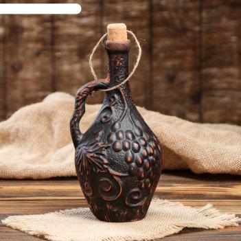 Коньячная бутылка гроздь 0,6 л