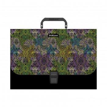 Портфель а4 erichkrause purple python пласт 49281