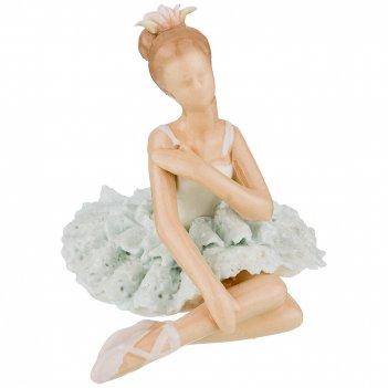 Статуэтка балерина 9*7,5*7 см. серия фарфоровые кружева (кор=96шт.)