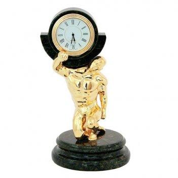 Часы атлант камень змеевик