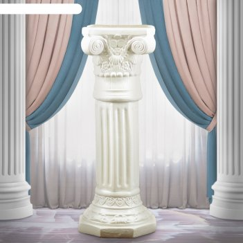Статуэтка колонна акрополь высокая белая 75 см