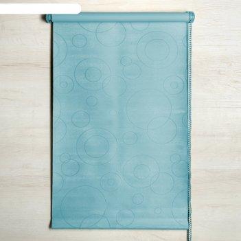 Штора рулонная «блэкаут», светонепроницаемая, 160 х 160 см, замша, цвет го