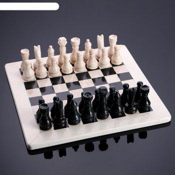 Шахматы «элит»,темная  доска 30х30 см, оникс