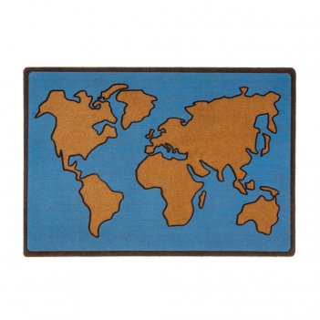 Коврик придверный world map