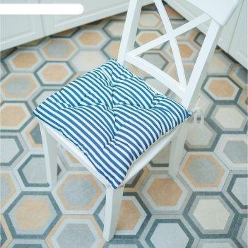 Подушка на стул, размер 45 x 45 см, принт полоска