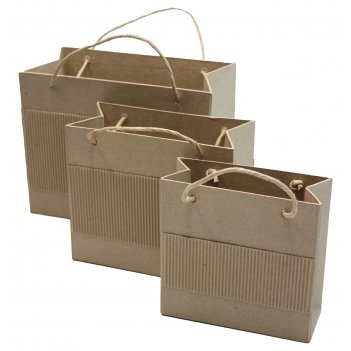 Набор из 3-х сумочек из папье-маше, макс. 25,4 х 12,7 х 20 см