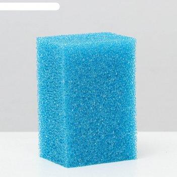 Губка прямоугольная для фильтра, синяя №5, 6х8х12 см