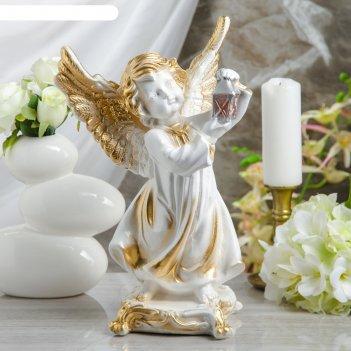 Статуэтка ангел с фонарем большой