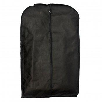 Чехол для одежды зимний 100x60x10 см, спанбонд, цвет чёрный