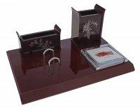Набор настольный 4в1: подставка под визитки, стакан для ручек, отделение д