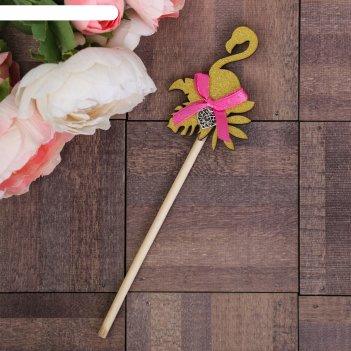 Декоративный штекер «фламинго», 7 x 14 см