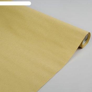 Бумага упаковочная крафт, двусторонняя, натуральный, 1 х 10 м