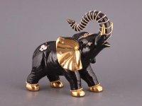 Фигурка слон черный со стразами высота=23 см.шир...