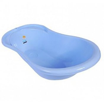 Ванночка детская ангел с термометром голубая 4102la-rs