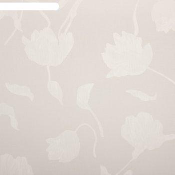 Тюль этель цветочная иллюзия (белый) без утяжелителя, ширина 250 см, высот
