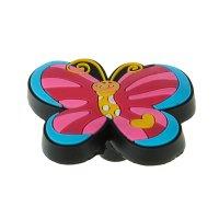 Ручка кнопка детская kid 021, бабочка 1, резиновая