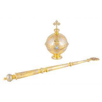 Сувенир держава и скипетр от златоуст