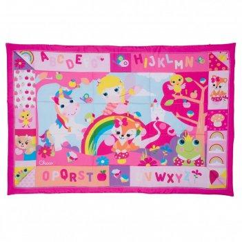 Игровой коврик chicco xxl «лесные друзья», цвет розовый