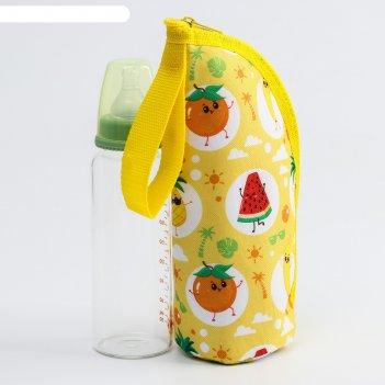 Термосумка для бутылочки фруктовая тусовка на молнии