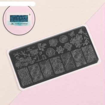 Пластина для стемпинга tnl premium - florist (081)