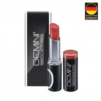Помада для губ матовая demini perfectly matte lipstick, № 122 теплый корал