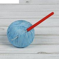 Крючок для вязания с пластиковой ручкой, d=2,5мм, 14см
