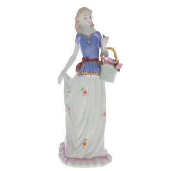 Фигурка декоративная девушка, l12 w9 h30 см