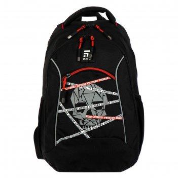 Рюкзак школьный kite 813m, 40 х 28 х 16, для мальчика, education, чёрный