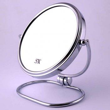 Зеркало tsam 1130-6 настольное металл. 2-х сторон. 5-ти кр.