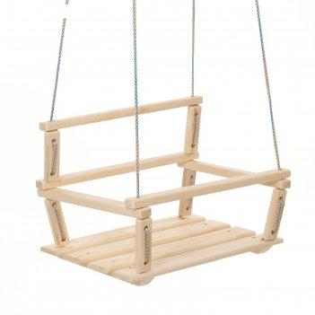 Качели детские подвесные, деревянные, сиденье 30x40см