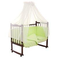 Комплект в кроватку 7 предмета горошки зеленый 10703