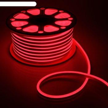 Гибкий неон 8 х 16 мм, 50 метров, led-120-smd2835, 220 v, красный