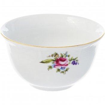 Розетка 11 см, menuet, декор мейсенский цветок, отводка золото