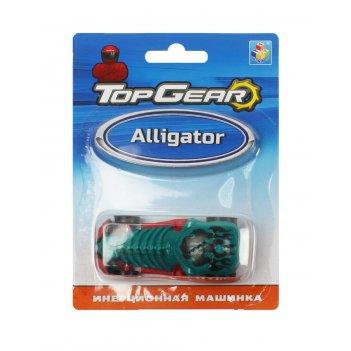 1toy top gear пласт. машинка alligator, инерц. блистер