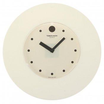 Часы настенные круглые классика. точки, d=37,5 см, белые