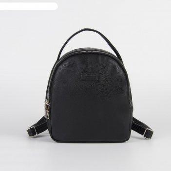 Рюкзак молод 0209, 29*8*24, 3 отд на молниях, черный