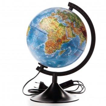 Глобус физико-политический диаметр 210мм классик с подсветкой